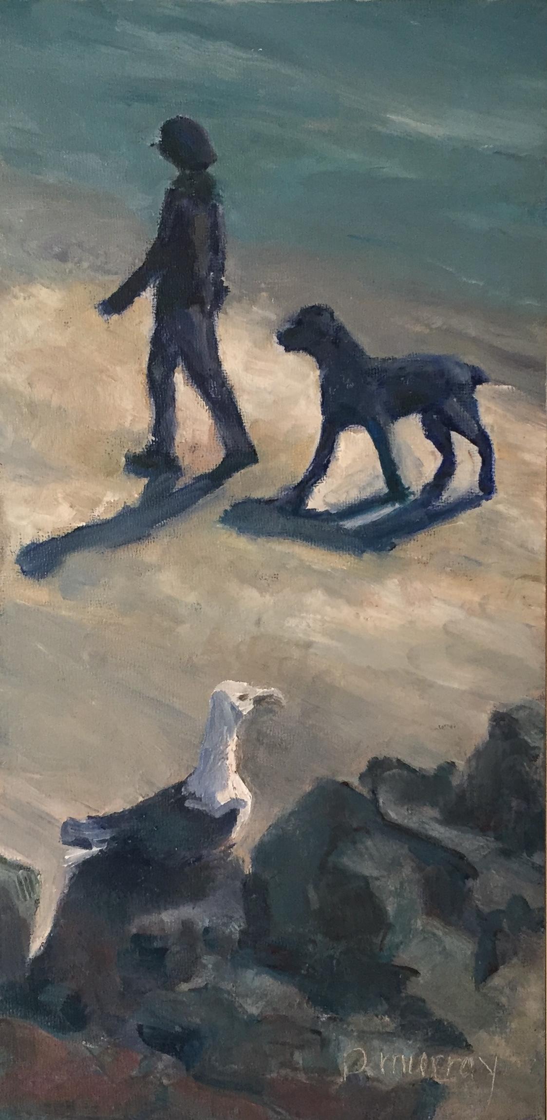 Beach Stroll with Onlooker