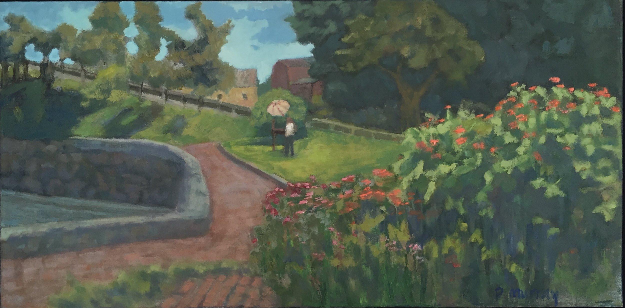 Painter in Prescott Park, Portsmouth, NH