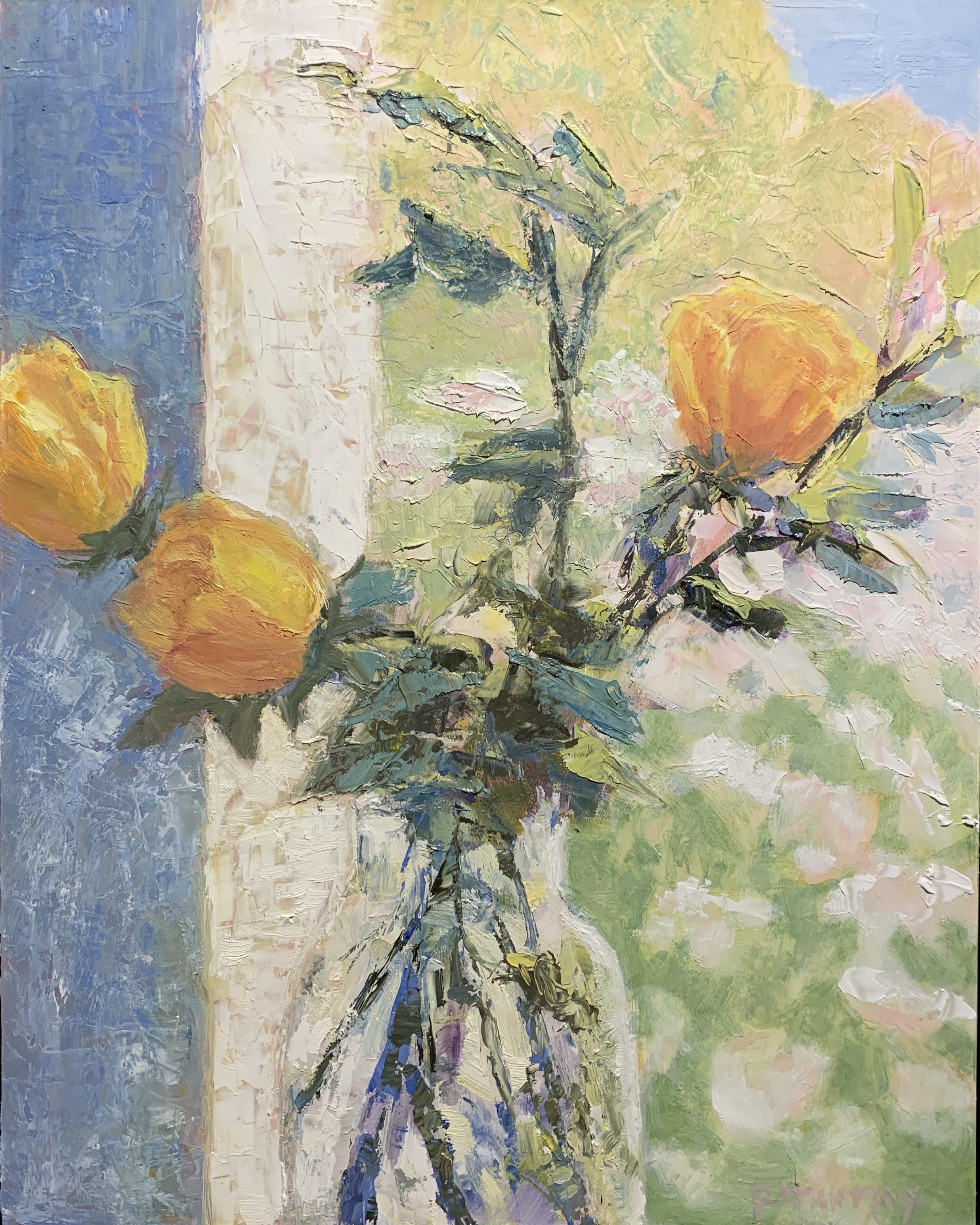Yellow Roses in the Window