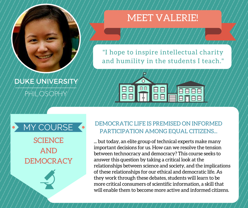 """Science and Democracy""   Valerie Soon,  Duke University Philosophy"
