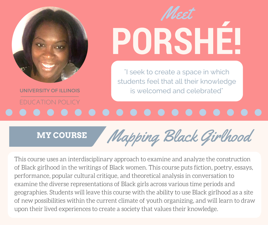 """Mapping Black Girlhood""   Porshé Garner,  U. of Illinois Education"