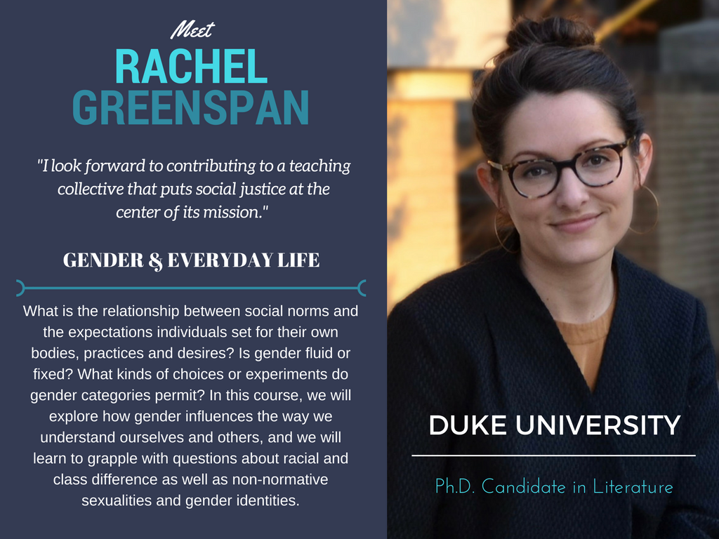 """Gender & Everyday Life""   Rachel Greenspan,  Duke University"