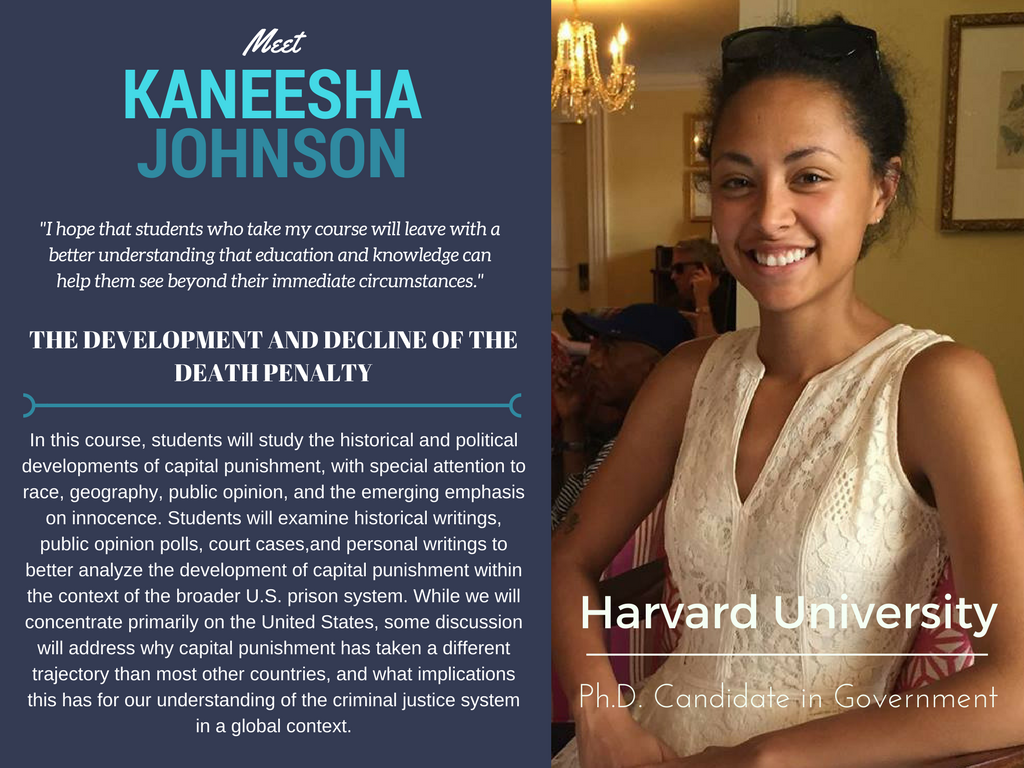 """Criminal Justice""   Kaneesha Johnson,  Harvard University"