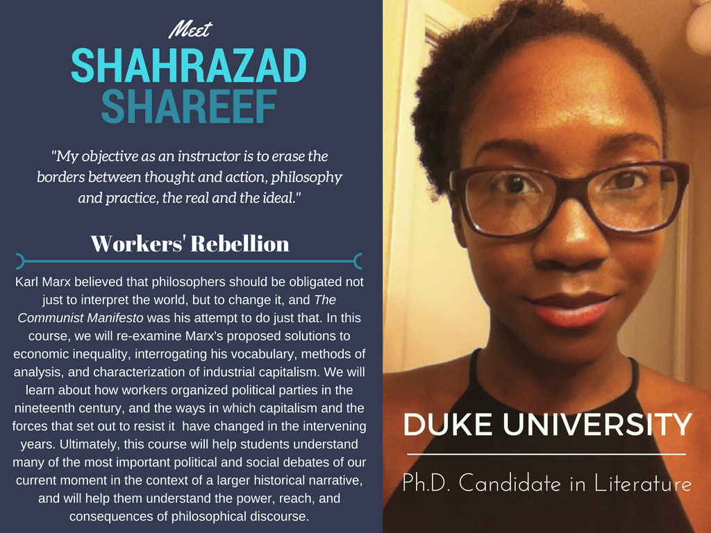 """Workers' Rebellion""   Shahrazad Shareef,  Duke University"
