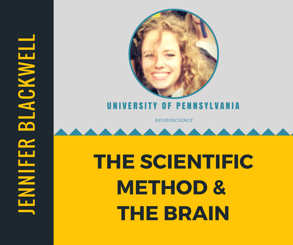 """The Scientific Method & the Brain""   Jennifer Blackwell,  University of Pennsylvania"