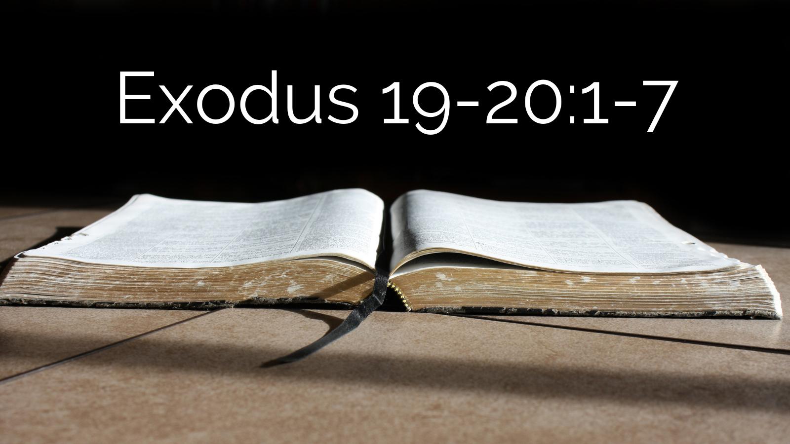 Exodus 19-20:1-7