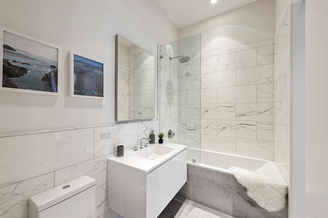 A glimpse into a refreshed bathroom in a modern interior renovation of a #Tribeca loft . . . #architecture #architecturephotography #architects #cm #construction #onsite #kitchen #fixtures #lighting #nyc #newyork #newyorkcity #soho #tribeca #constructionworker #arch #bathroom #bathroomdesign #bathroomdecor  #design #interiordesign #photo