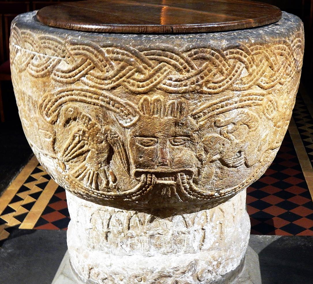 IMAGE NINE–Brecon Baptismal Font