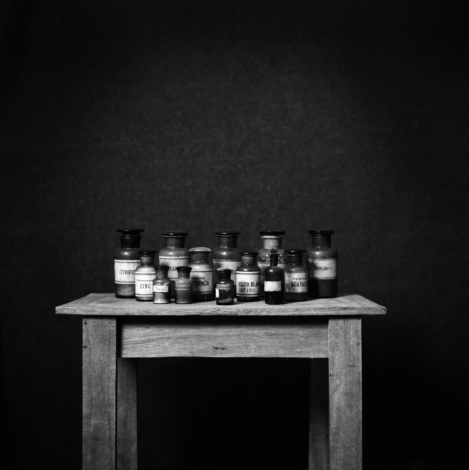 The End (Cyanide)  Archival charcoal pigment print on cotton paper. Triptych. 40 x 120 in. Detail.