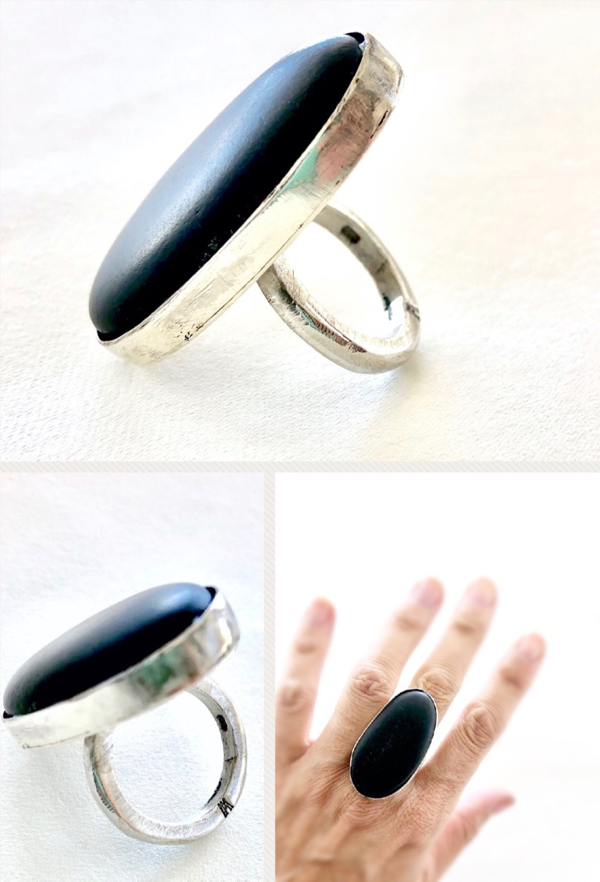 Sea Pebble and Silver ring