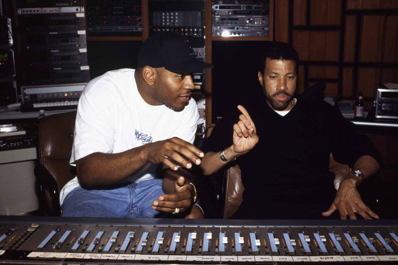 Lionel with LL Cool J – Photo courtesy Alan Silfen