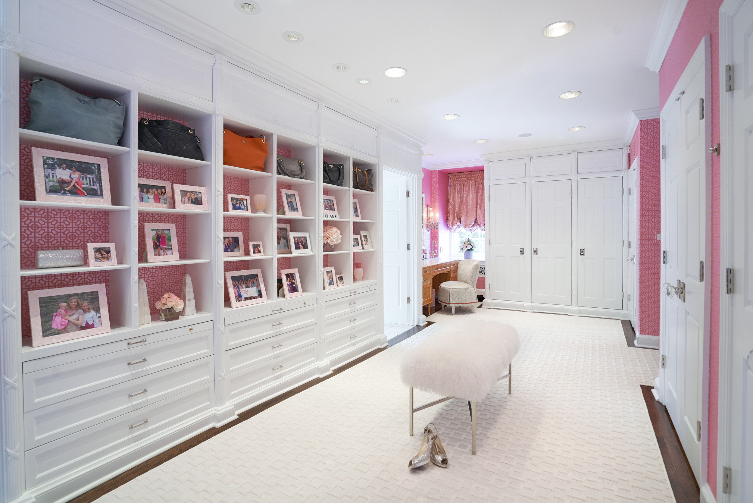 Glamorous dressing room