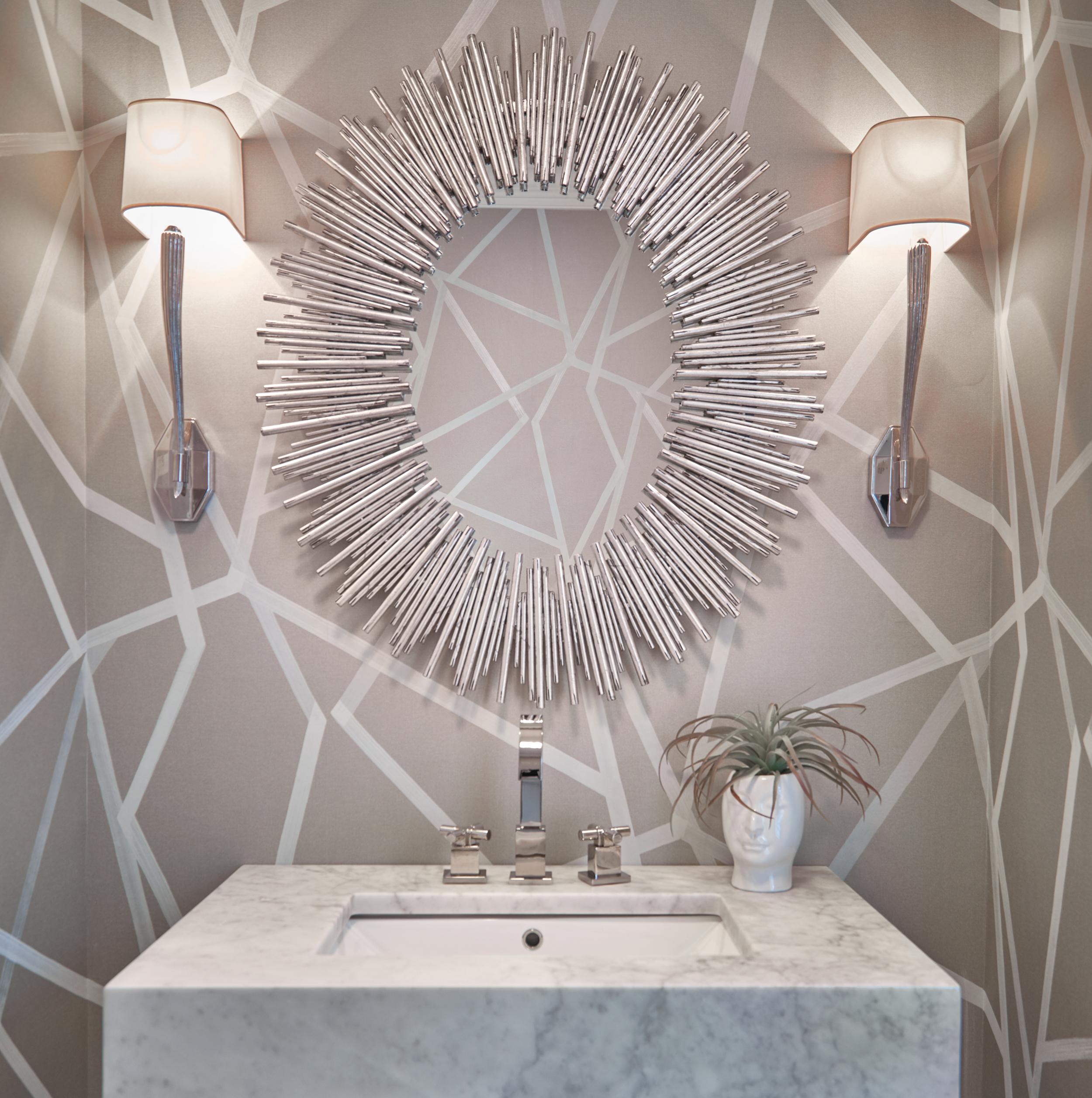 Abstract powder room