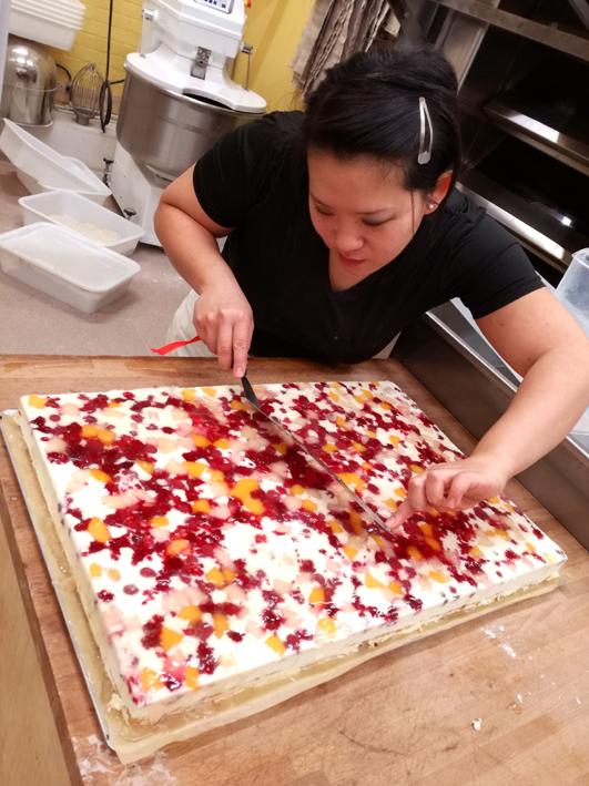 Diana's making a bespoke gâteau.