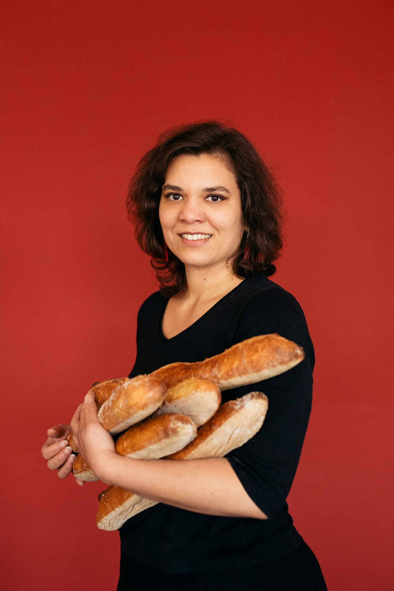 Géraldine and her bread!