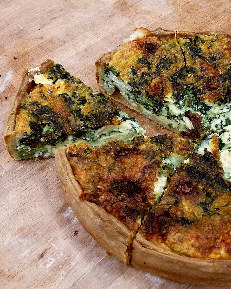SPINACH & GOAT CHEESE QUICHE