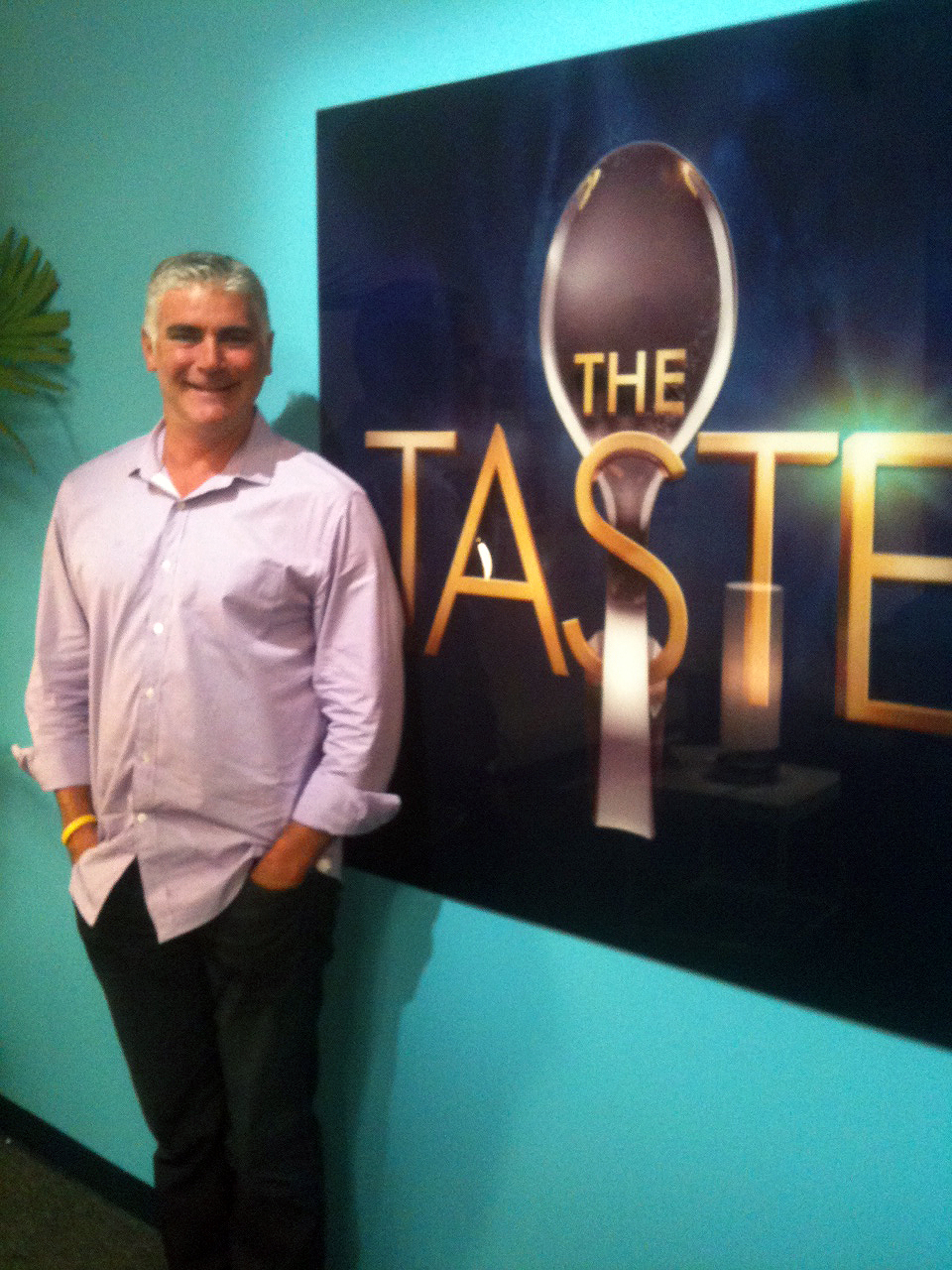 "Dave as contestant on ""The Taste"""