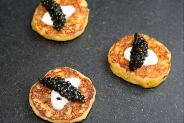 CORN BLINI WITH RUSSIAN OSETRA CAVIAR.jpg