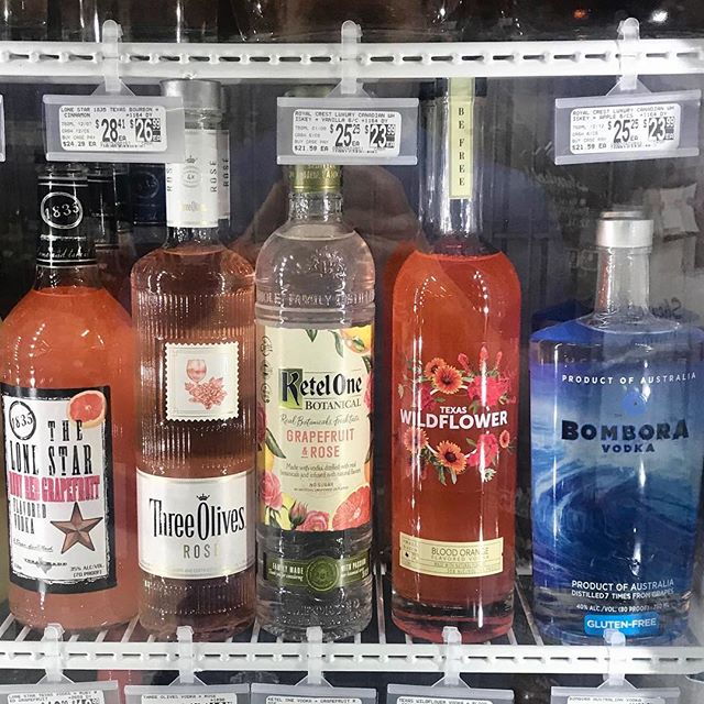 Look who is on the cold shelf @specs1962 at Central and Walnut Hill.  Chilled and ready for your #craftcocktails  #craftvodka #craftcocktails #shoplocal #wildflowers #befree #drinkinthemoment #texaswildflowervodka