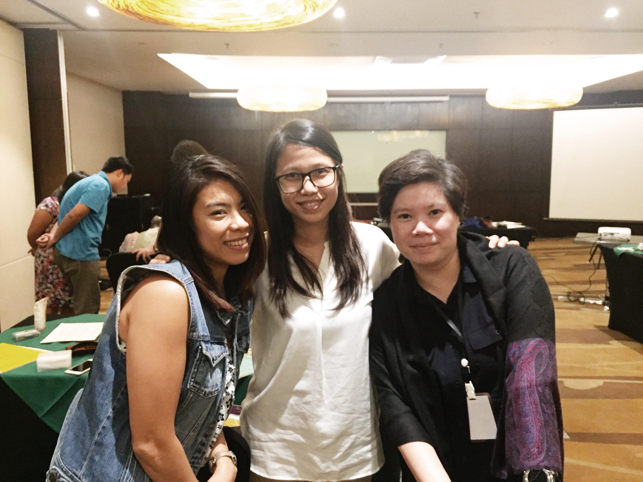 Me with  Pia  and  Hana !