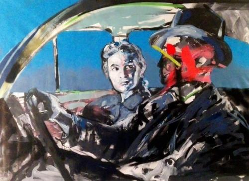 BlaBla Car   (2016  )   Acrylic and spray on canvas  113x155 cm