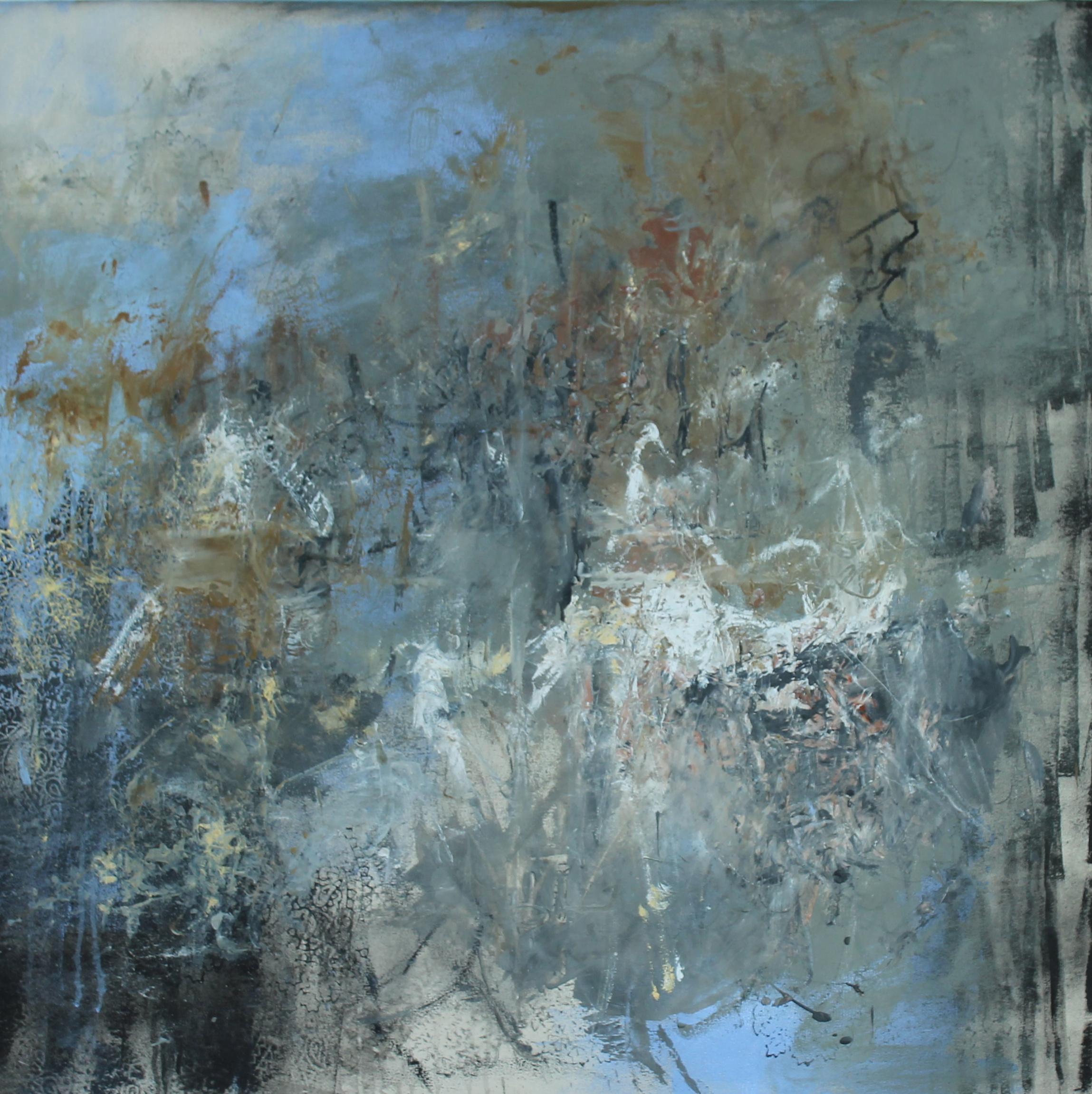"""Trans-subjectivity 2"" 122 x 122cm Encaustic oil and acrylic on canvas."