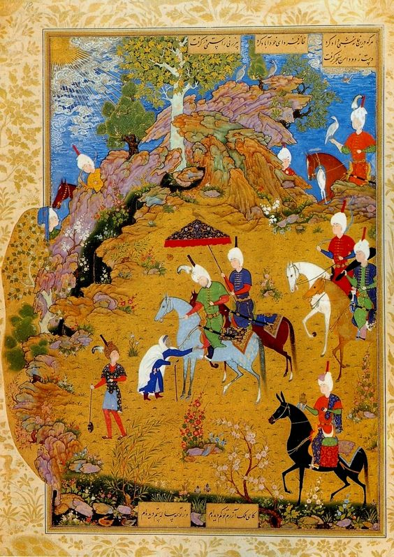 Scene from Jhamsa of Nizami