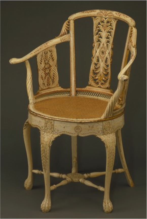 Ivory Chair 1785.    A gift to Warren Hastings, from governor-general of India.