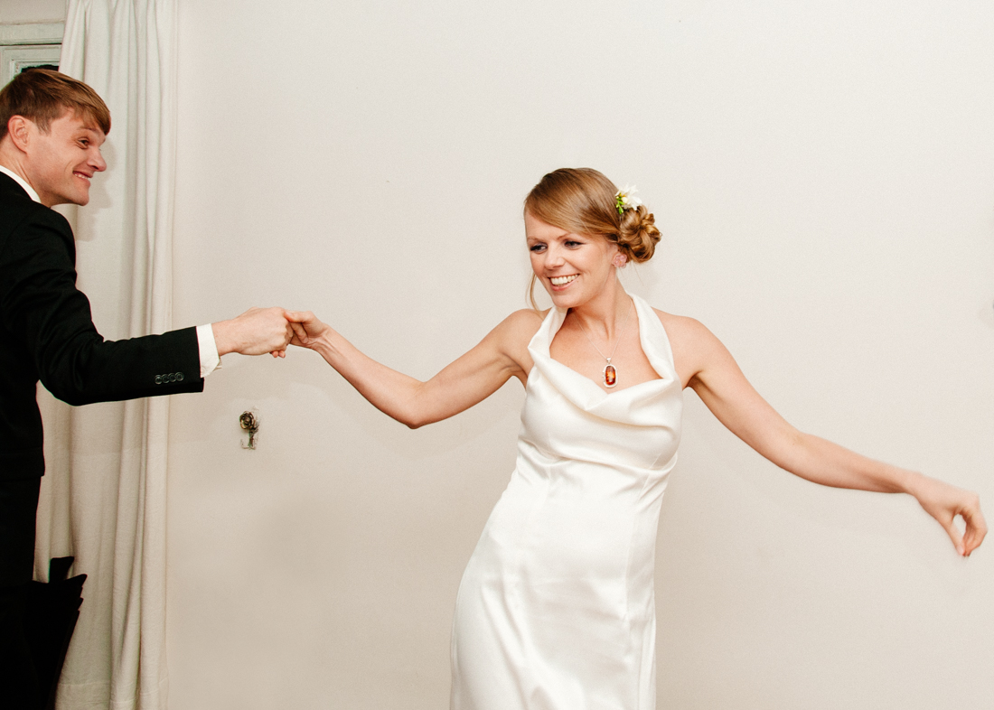 Bride and groom dancing © Kate Donaldson Photography