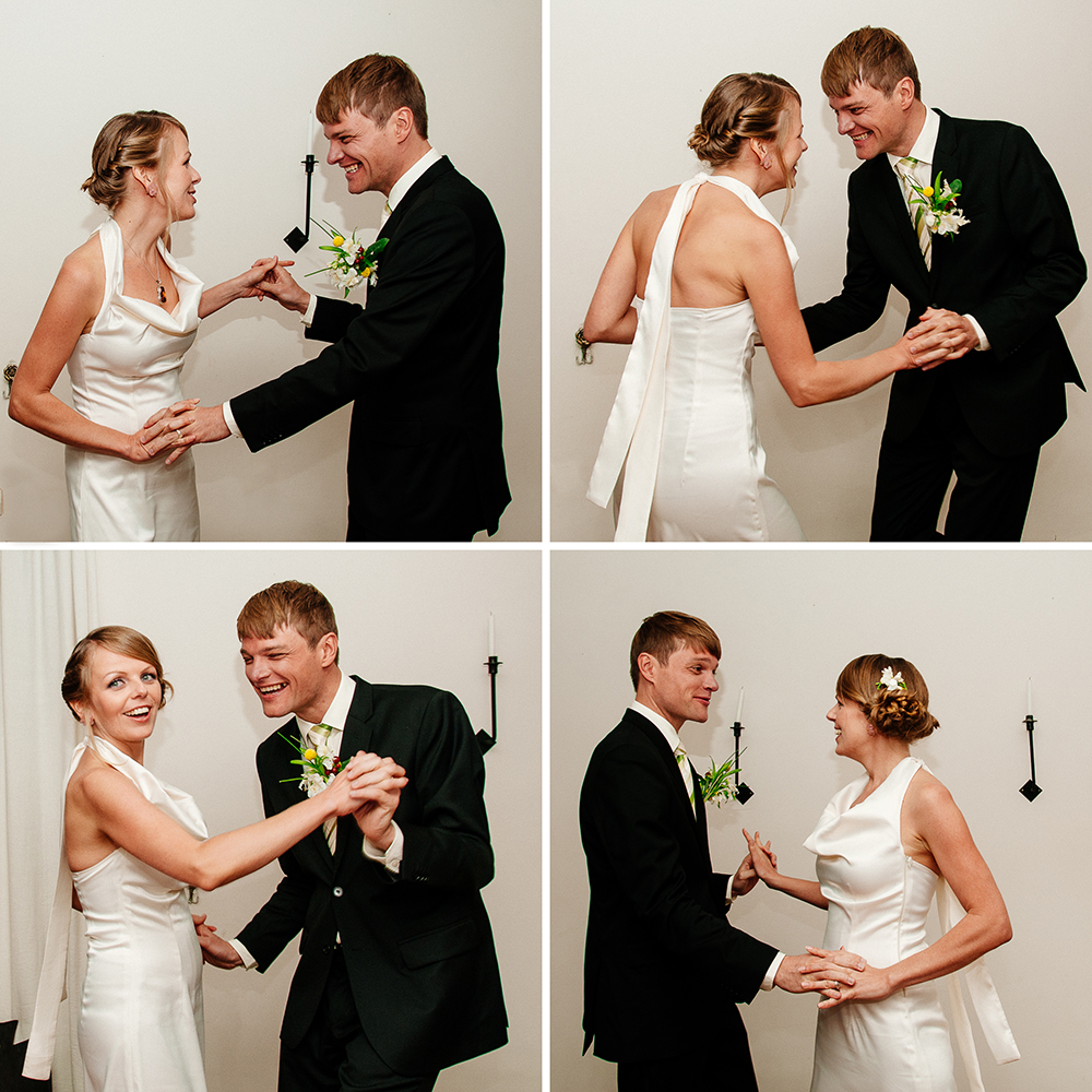 Bride and Groom Dancing © Humboldt County wedding and portrait photographer Kate Donaldson Photography