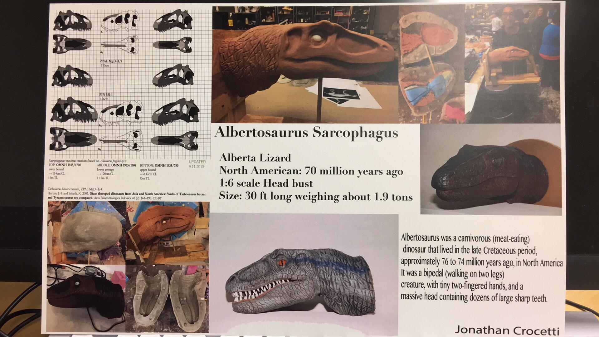 Dinosaur info card