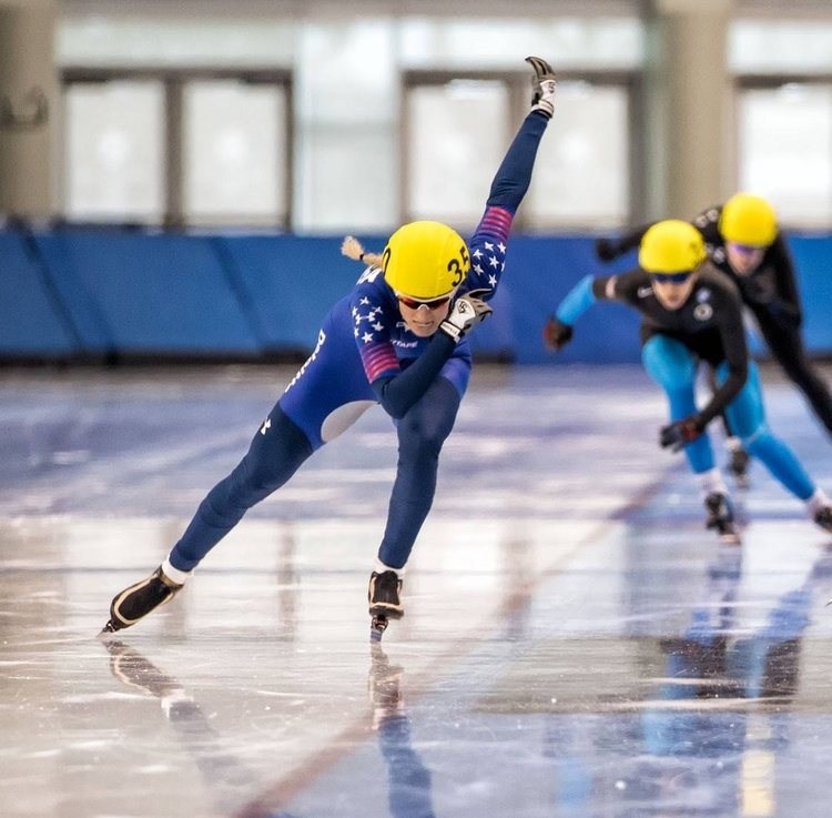 - In the winter of 2015, after a long break and a visit back to Salt Lake, the ice called once again. I competed in my first speed skate events in 6 years: the 3,000m and Mass Start, at the US National Championships in Milwaukee. I completed the 3,000m by cutting my personal best time by 4 seconds and earning the title National Champion.