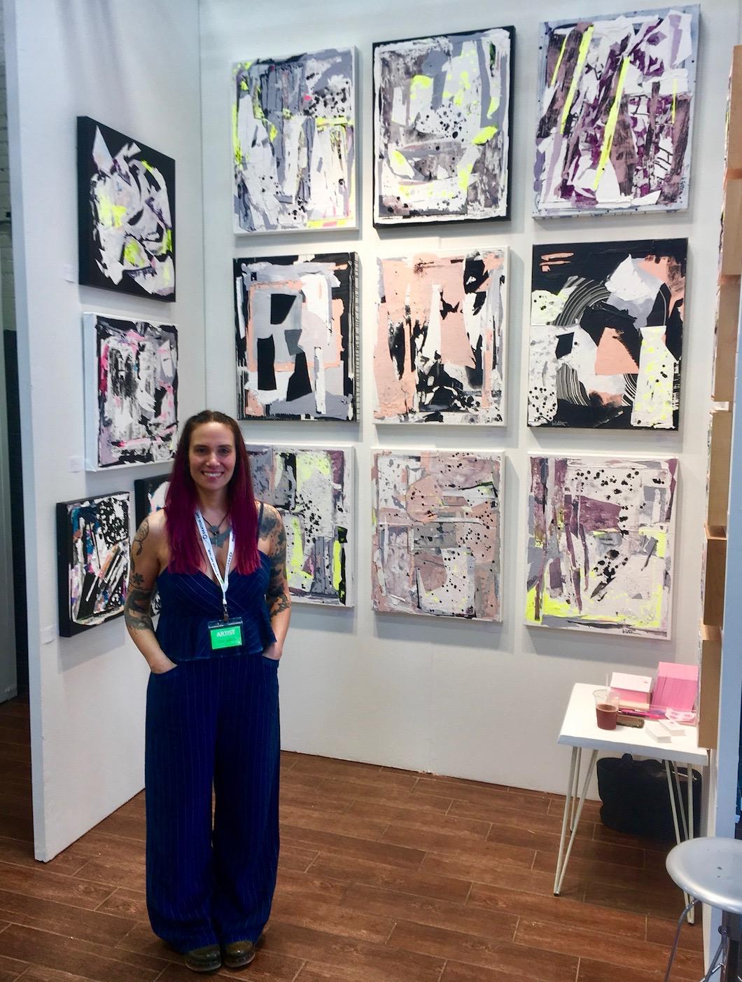 Artist  Linda Colletta  at  The Other Art Fair , Brooklyn - 2018