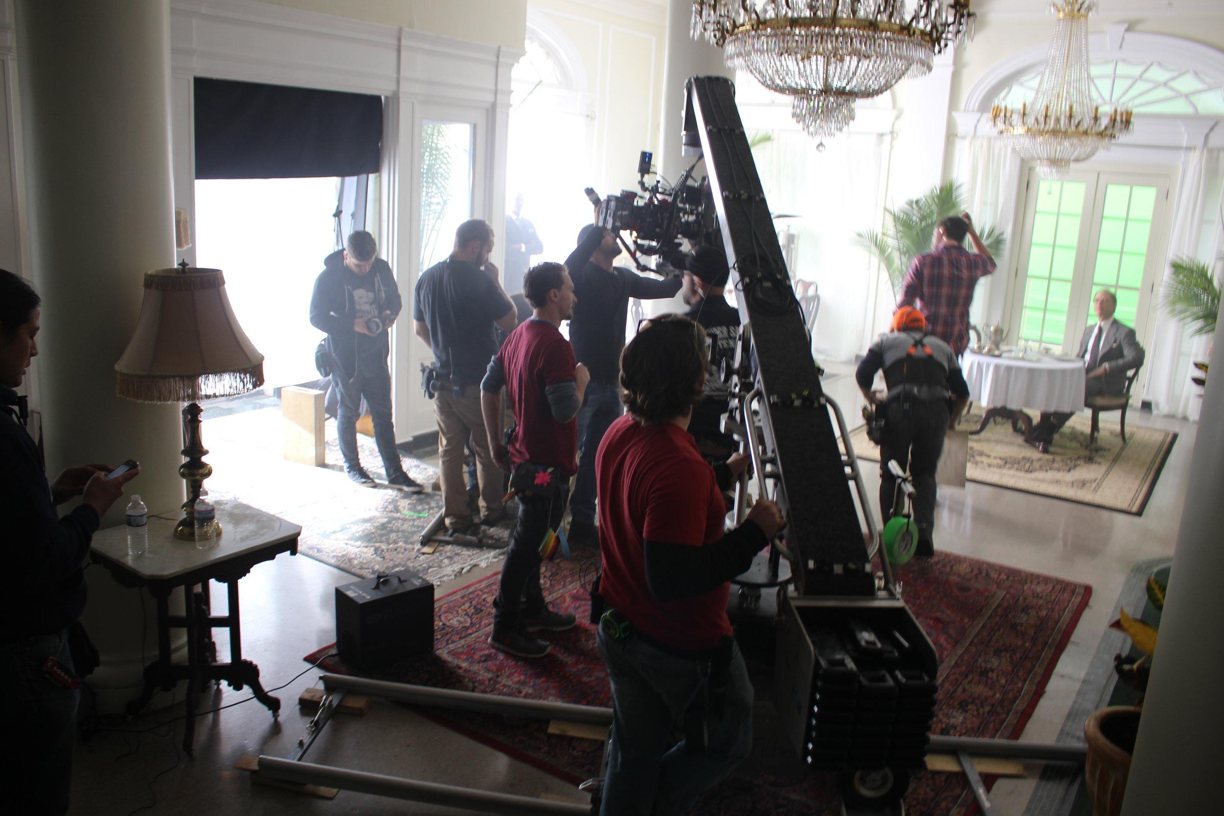 Filming Making of the Mob: NY at the Shenandoah Hotel