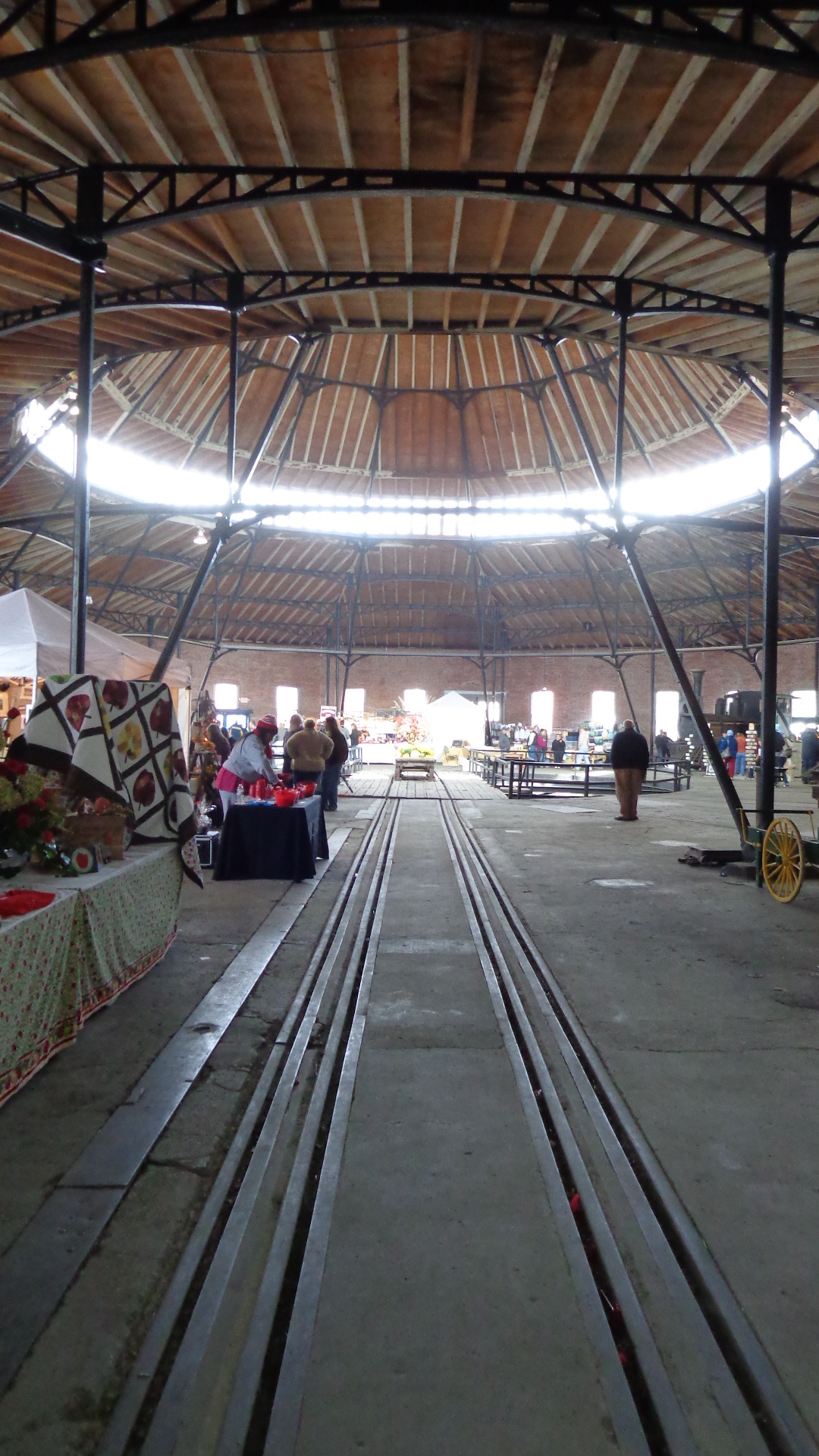 Interior of the B&O Roundhouse