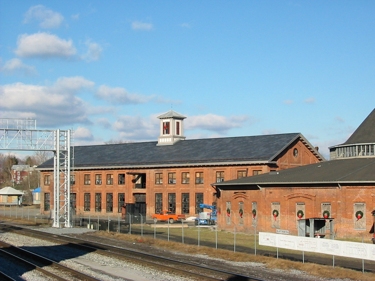 The Martinsburg B&O Roundhouse-Bridge and Machine Shop building