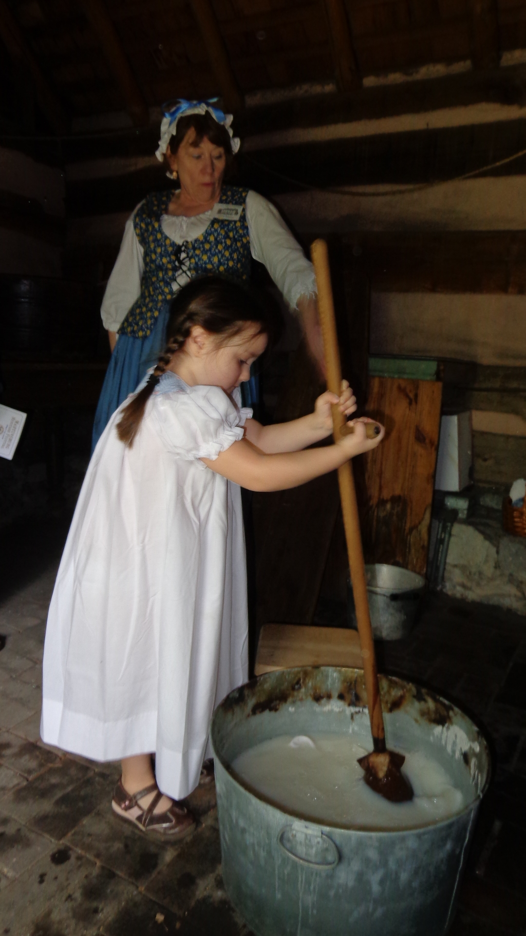 Doing laundry at the Adam Stephen House during Heritage Days