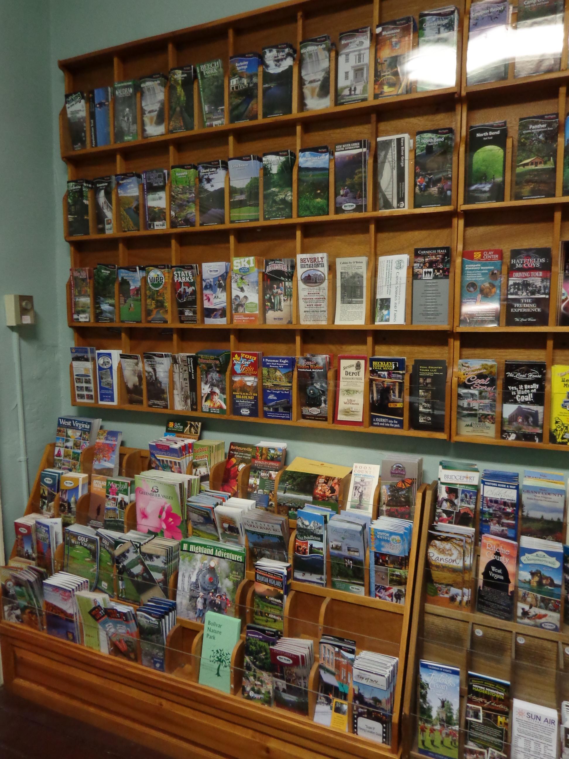 Visitors Center brochures in Ben Boyd Store at Belle Boyd House