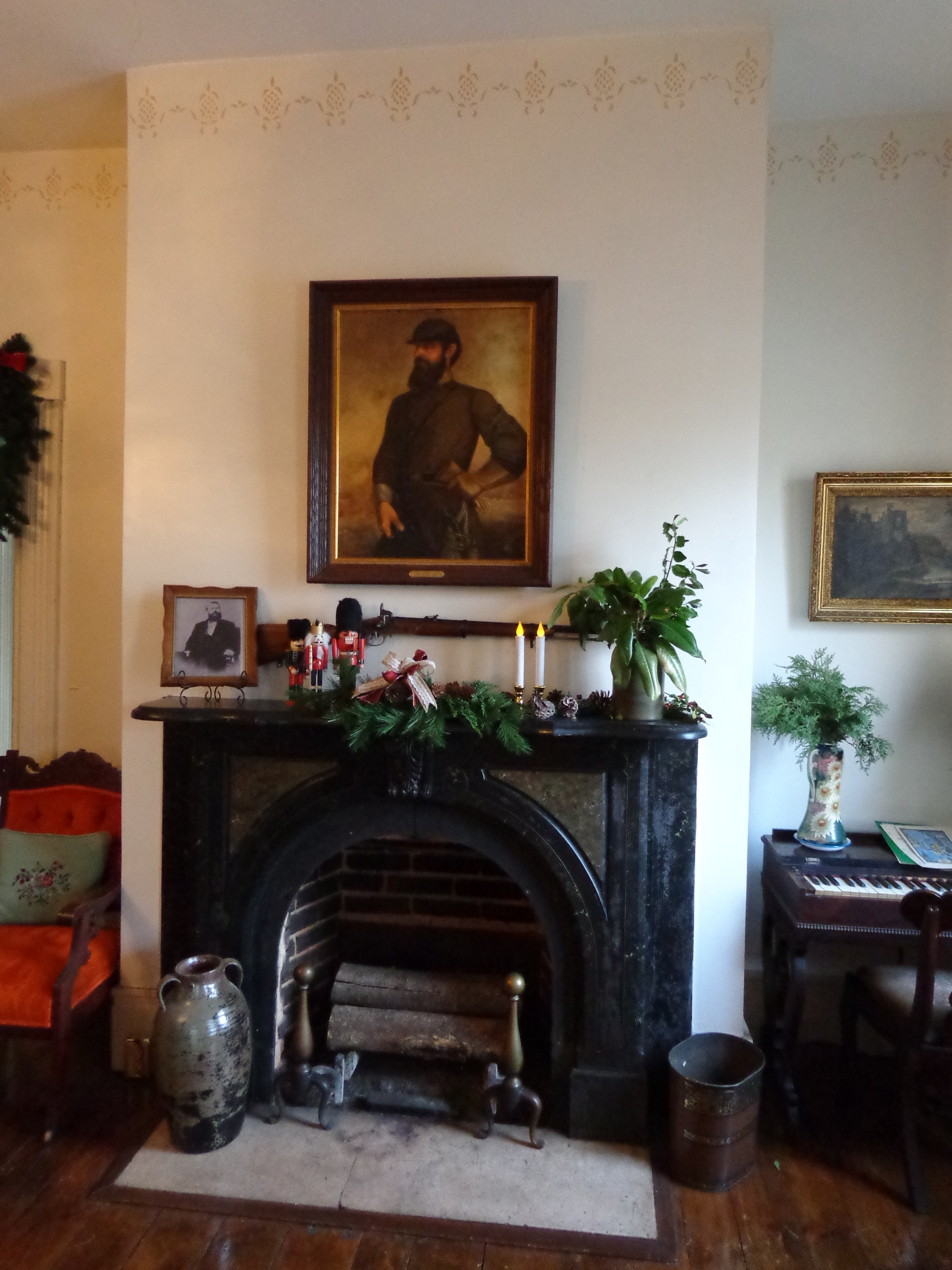 """""""Stonewall"""" Jackson portrait over mantel at Belle Boyd House"""