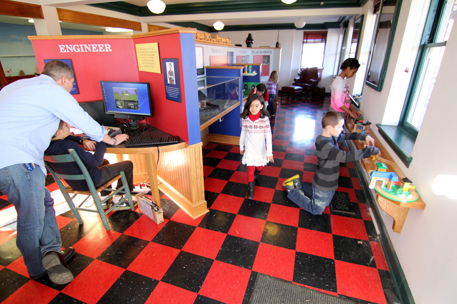 Interactive exhibits at for the kids, by george museum