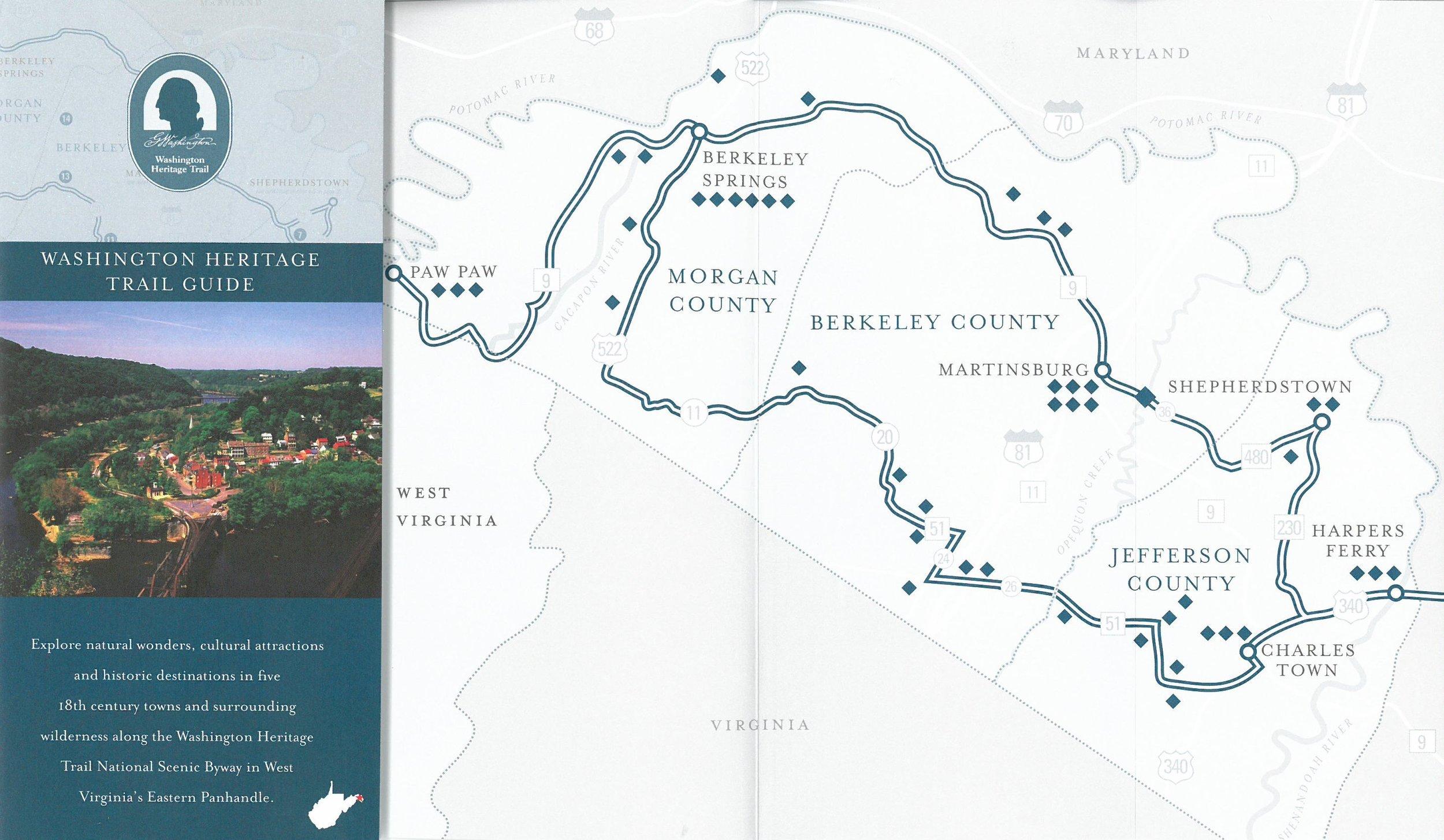 Washington Heritage trail map