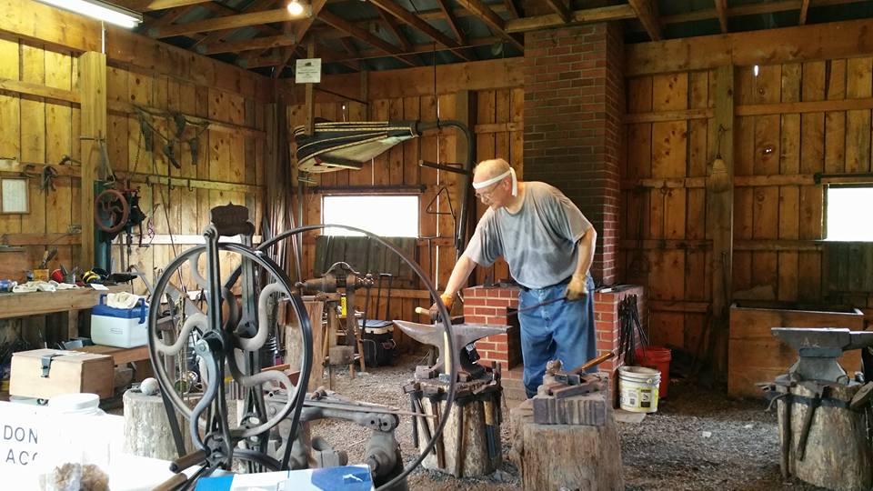 Dillon Farm museum WORKING BLACKSMITH SHOP