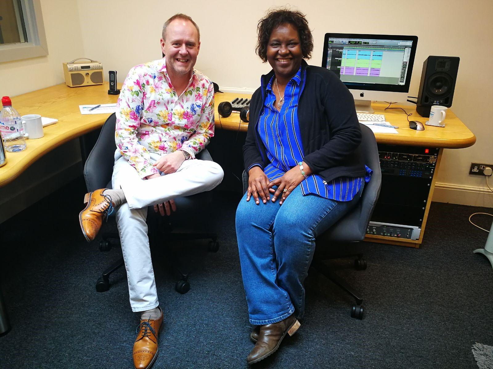 Mr James Halstead and Plaxy Budzinska on the air