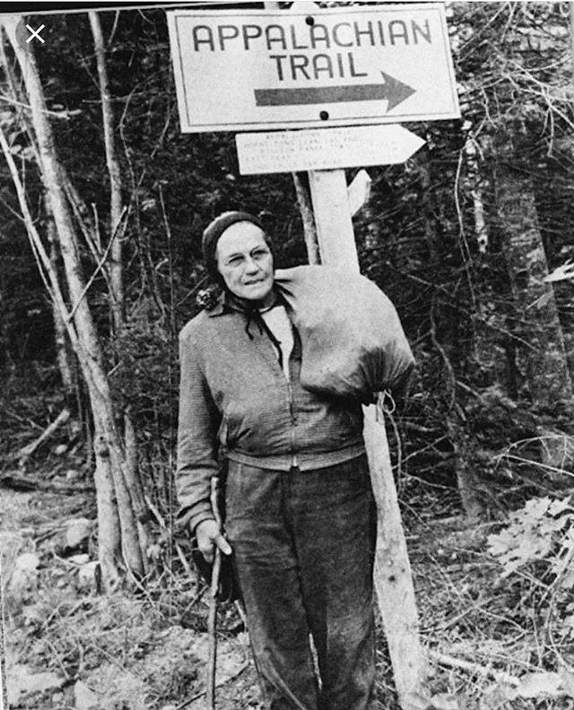 Emma Gatewood. She was the first woman to hike the Appalachian trail at age 67! For her, hiking was an act of self-care, healing, resistance, independence and a way to Regain her strength. Inspiring!
