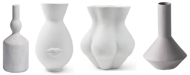 Morandi sculpture ,  Mr and Mrs Muse vase ,  Muse Kiki's Derriere vase , Sculpt pod vase grey