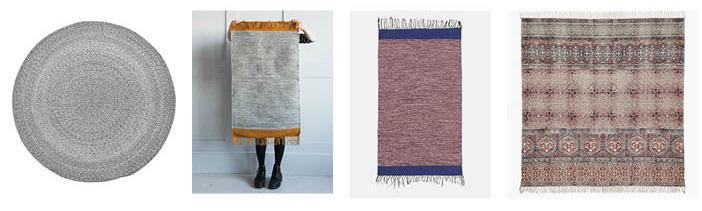 Grey round rug , Melange grey rug , Melange rose rug ,  Burgundy square rug