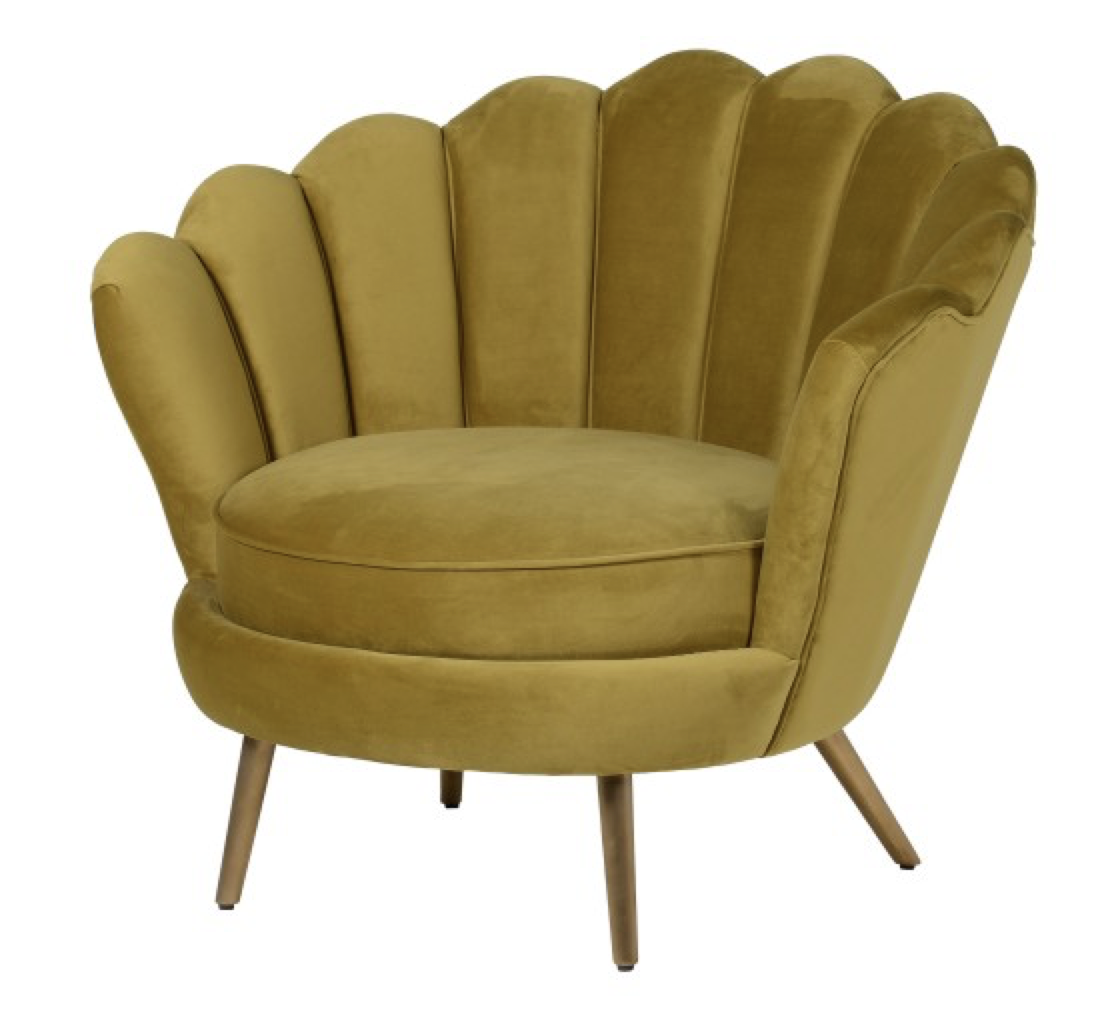 Velvet Petal Chair from Out There Interiors