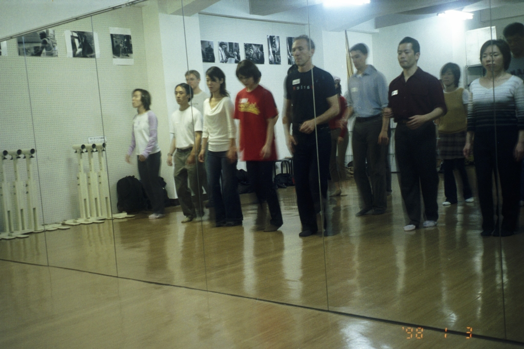 Teaching Balboa in Fukuoka, Japan.