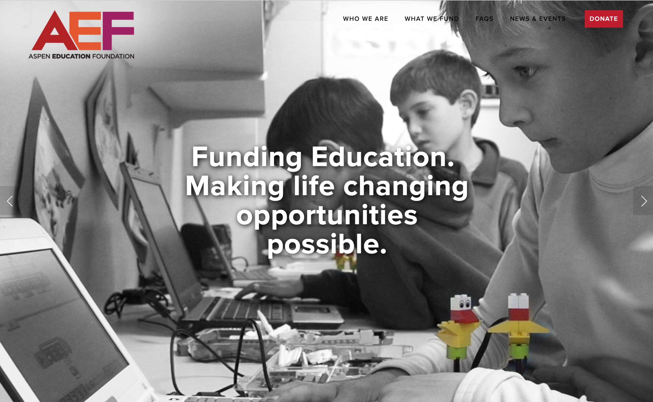 Kissane Viola Design Websites Aspen Education Foundation Intro grid.png