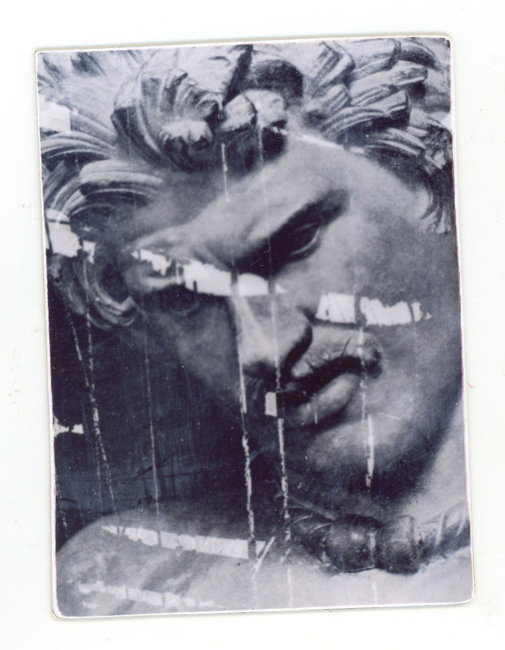 Gaul Experiment (Unique polaroid print, created with Daylab Copy System & mounted on cardstock)